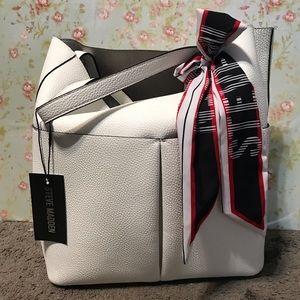 NWT- white Steve Madden purse